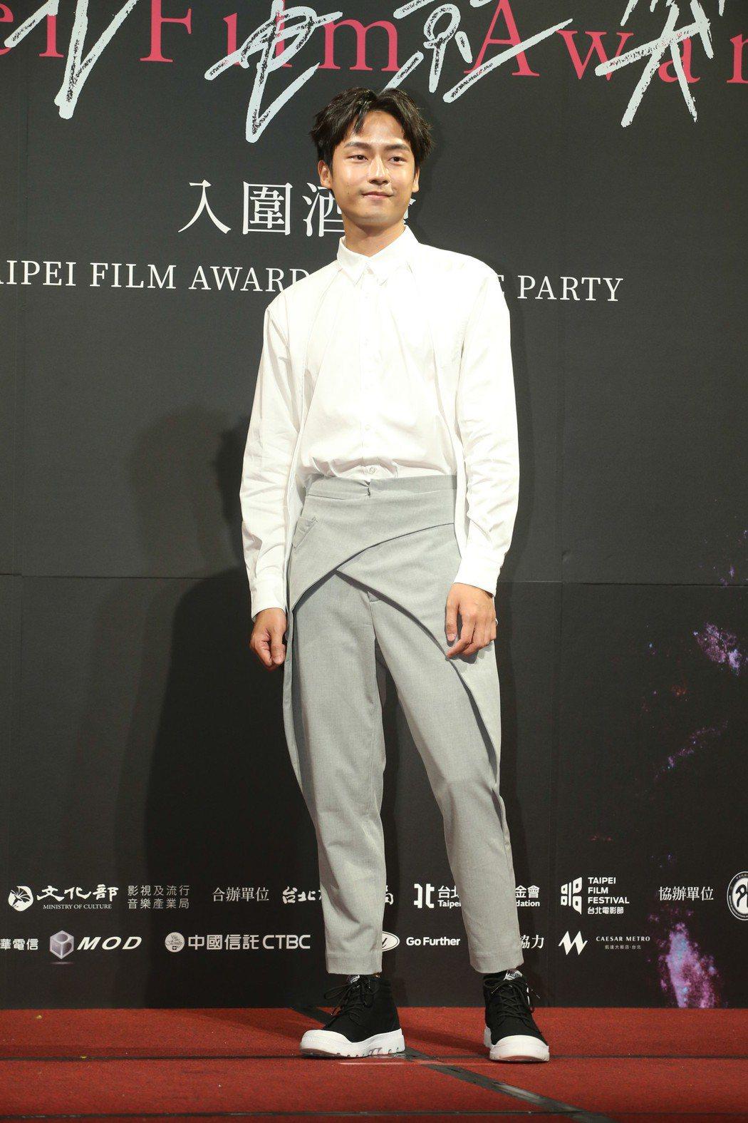 最佳男配角入圍者林鶴軒昨天出席台北電影獎入圍酒會。記者葉信菉/攝影 葉信菉