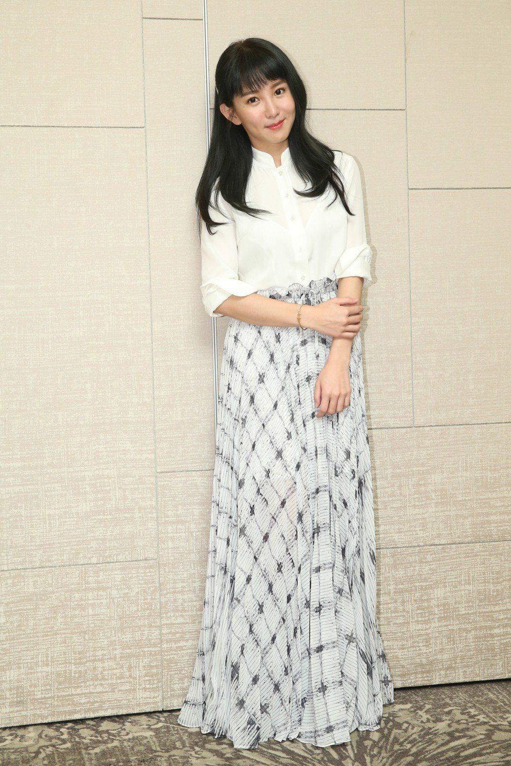 最佳女主角入圍者郭書瑤昨天出席台北電影獎入圍酒會。記者葉信菉/攝影 葉信菉