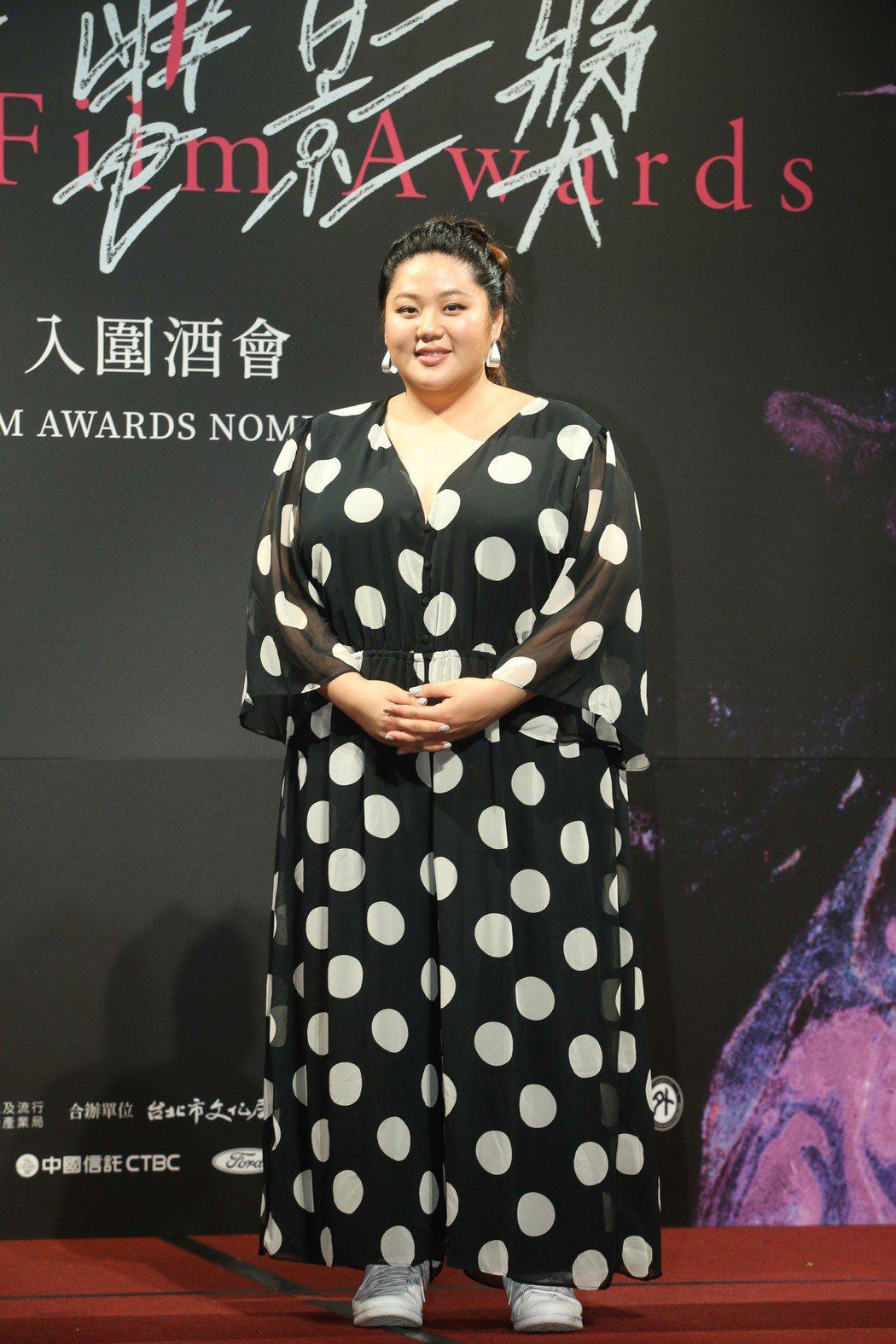 最佳新演員蔡嘉茵昨天出席台北電影獎入圍酒會。記者葉信菉/攝影 葉信菉