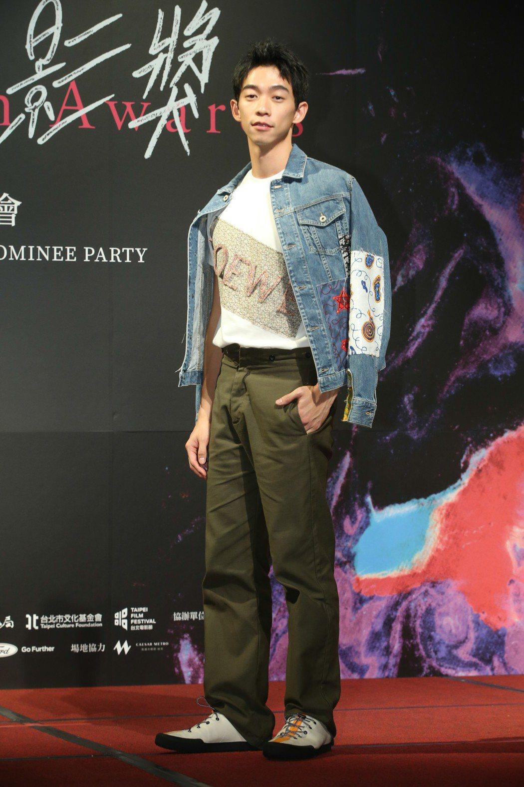 最佳新演員入圍者王可元昨天出席台北電影獎入圍酒會。記者葉信菉/攝影 葉信菉