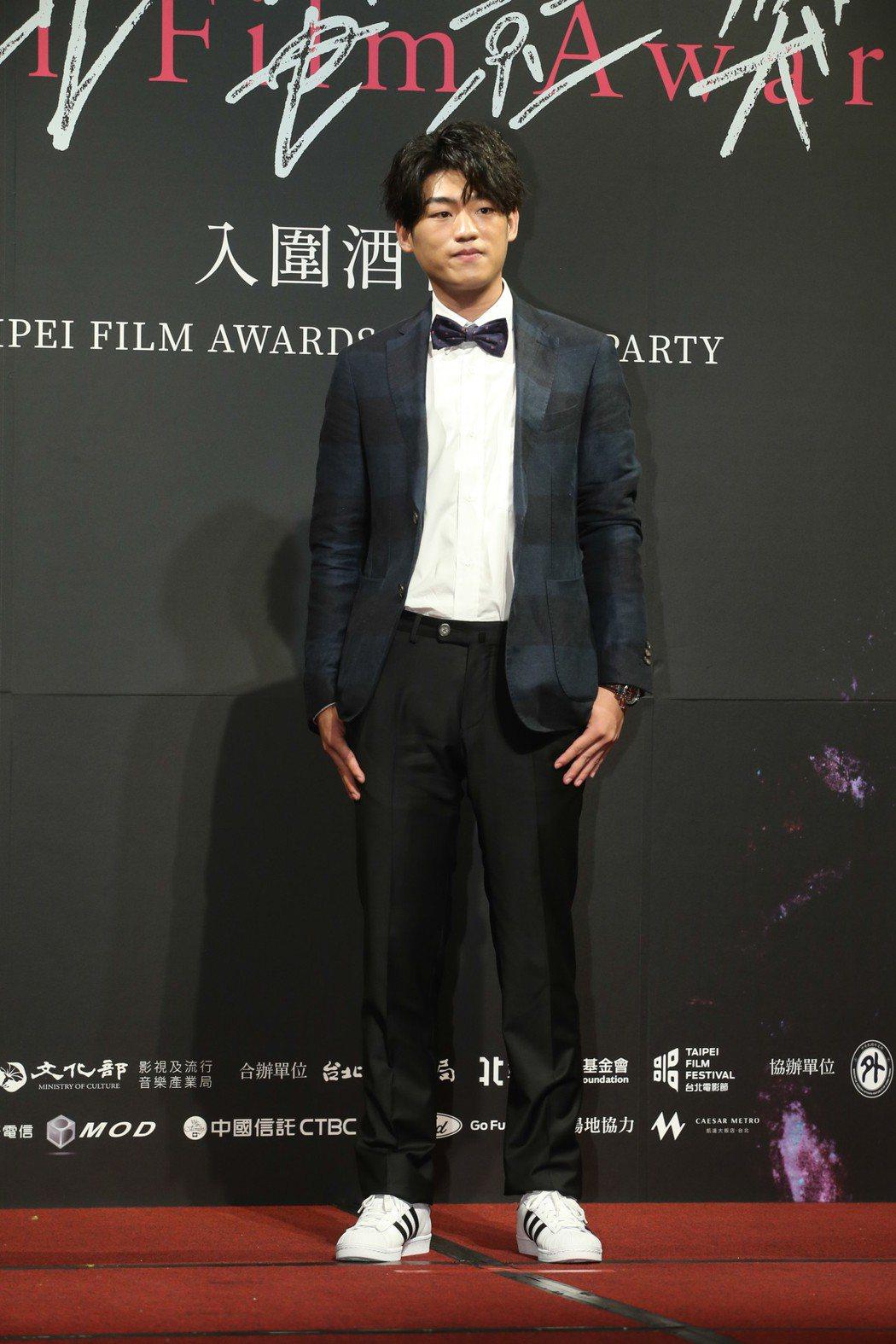 最佳新演員入圍者謝章穎昨天出席台北電影獎入圍酒會。記者葉信菉/攝影 葉信菉