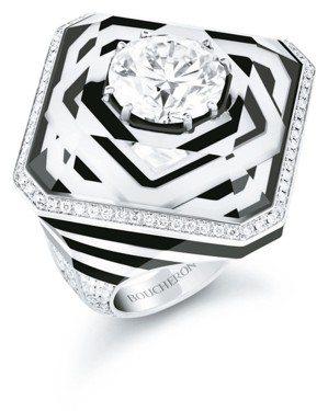 寶詩龍全新 Paris Vu Du 26頂級珠寶系列26V戒指鑲嵌4.08克拉主...