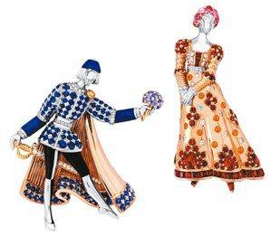 梵克雅寶挑戰莎翁名劇「羅密歐與茱麗葉」,發揮以珠寶說故事的專長。 圖/梵克雅寶提...