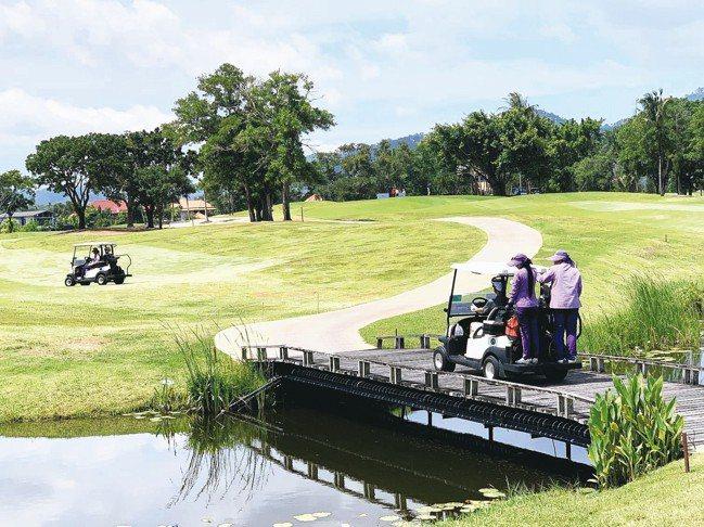 漂亮的Laguna樂古浪高爾夫球場一隅。 圖/陳志光、台灣賓士