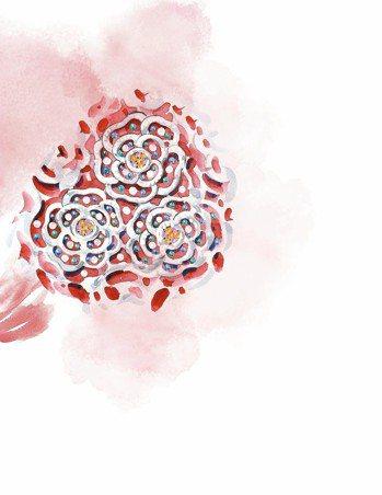 香奈兒高級珠寶創意工作室總監Patrice Leguereau的手繪靈感圖。 圖...
