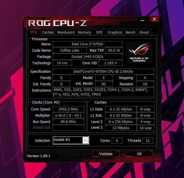 處理器採用Intel Core i7-9750H 2.6GHz。 彭子豪/攝...