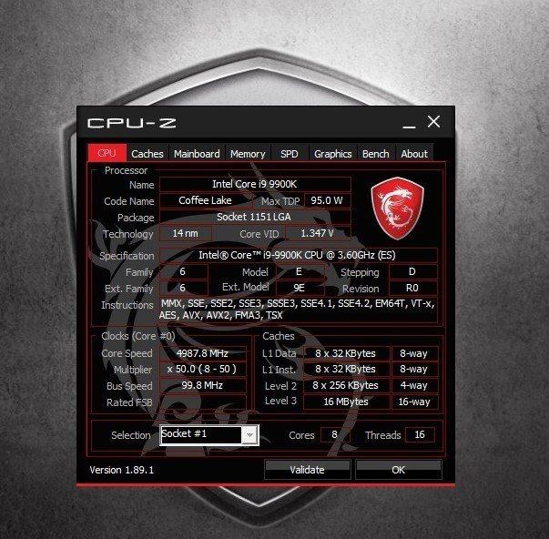 處理器採用桌機系列Intel Core i9-9900K,可超頻至5GHz。...