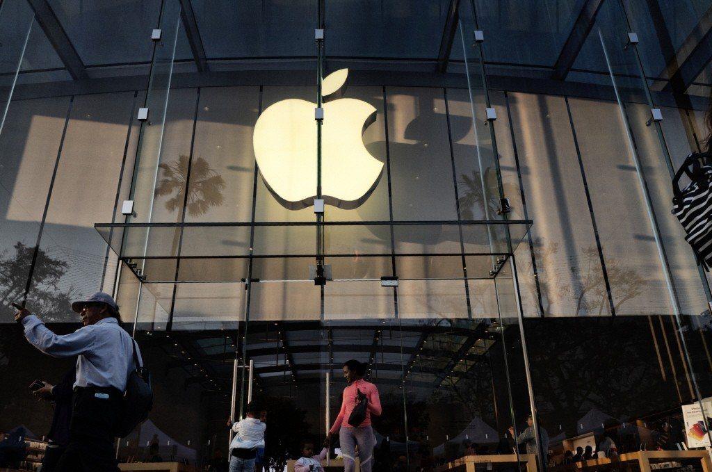 蘋概股帶動台股,開盤後隨即向上挺進,盤中一度大漲百點。美聯社