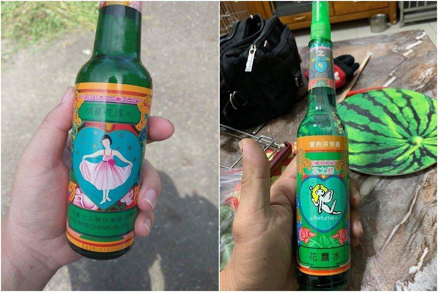 圖左為舊款「明星花露水」,圖右為老牌電蚊香公司所推出的新款花露水。 圖片來源/爆...