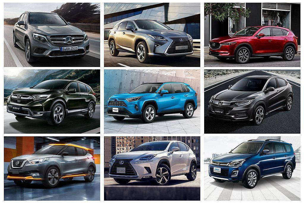 台灣2019上半年SUV銷售Top 10!進口品牌強勢攻佔過半名額