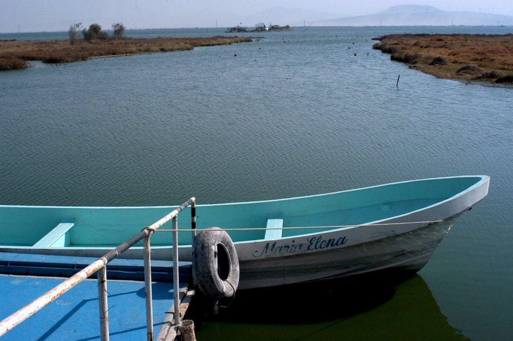 目前所剩的特斯科科湖(也就地圖上的Nabor Carillo水體)。 圖/歐新社