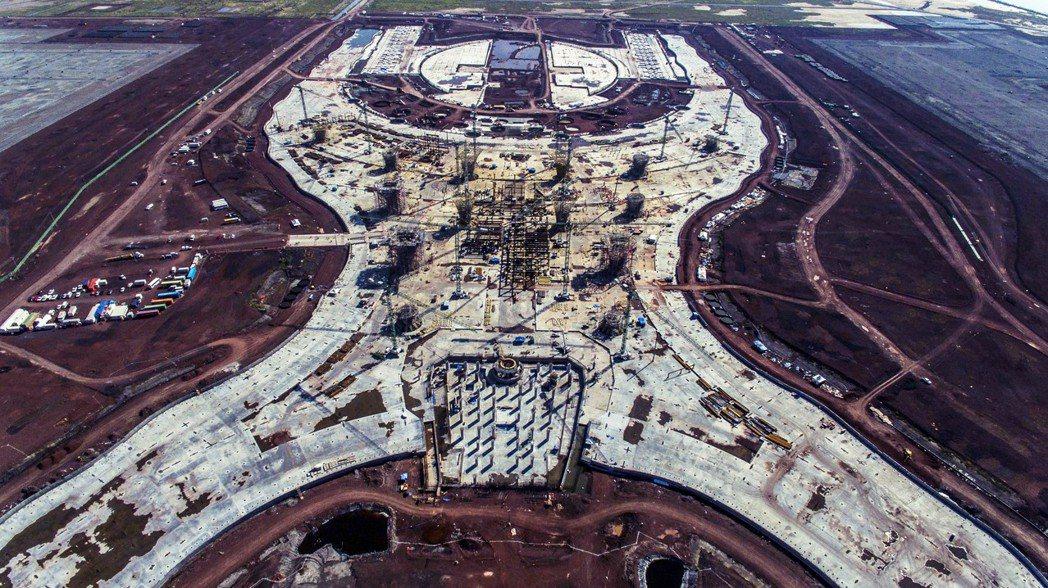 墨西哥首都新機場近照。 圖/法新社