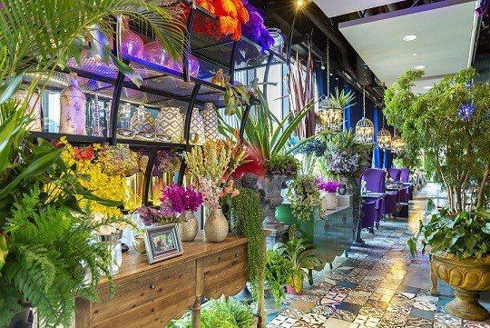 用餐環境宛如置身花園,令人賞心悅目。 Thaï J花園泰式料理/提供