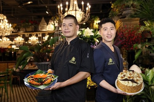 爸氣食足、美食雙雄,阿慶師(左)及蔡山姆老師。 Thaï J花園泰式料理/提供