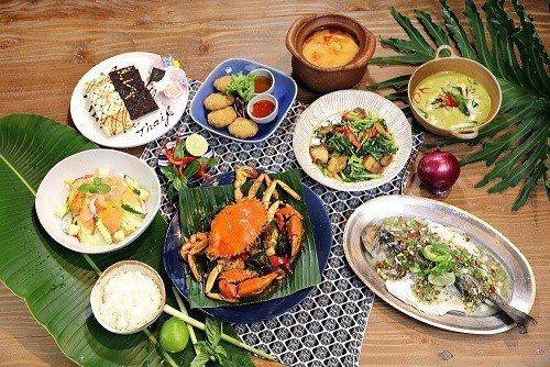 泰霸氣螃蟹4人套餐。 Thaï J花園泰式料理/提供