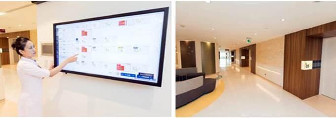 圖二、北醫附醫增設電子白板的護理站,隨時監測病房病患的狀態 (圖片來源:北醫附醫...