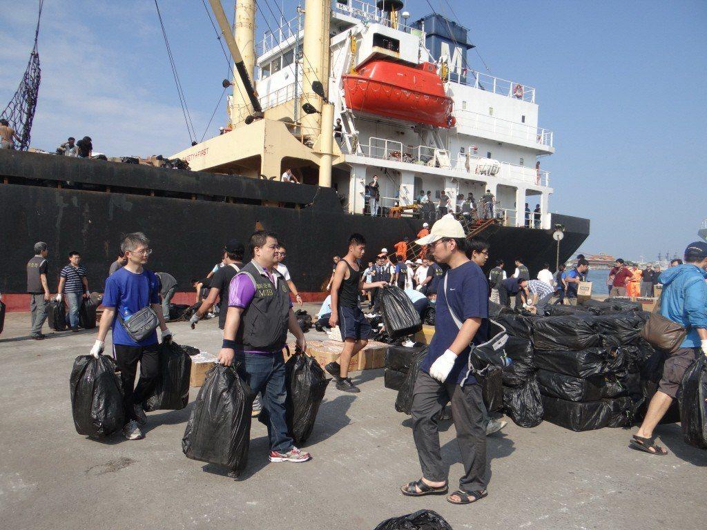 調查局南機站海空包抄,偵破巴拿馬籍貨輪「笙宏號」走私500公斤K毒。圖/資料照片