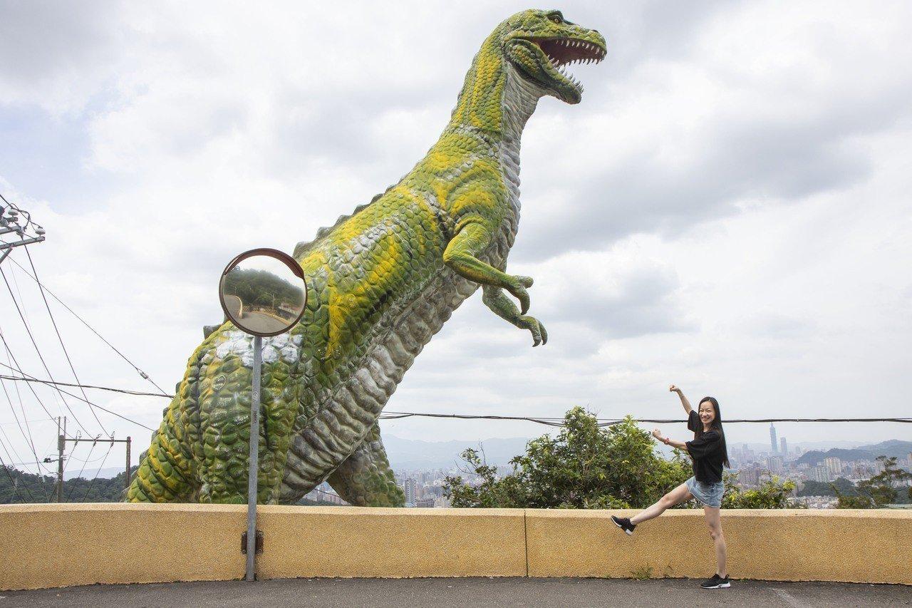 新北有恐龍占據山頭?仔細一看恐龍正在遠眺雙北,原來這裡是俗稱「烘爐地」中和南山福...