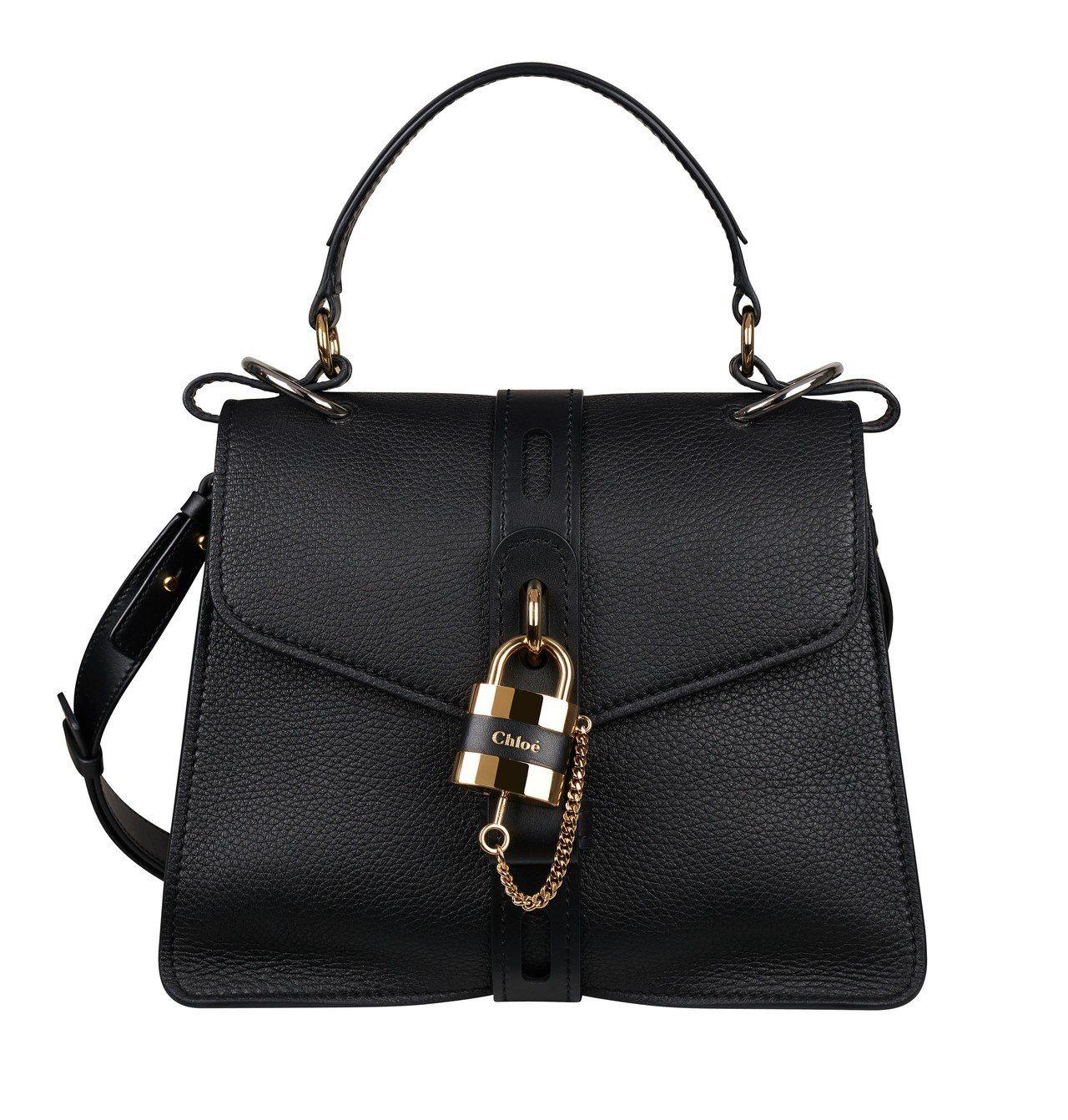 隋棠、許路兒款Chloé Aby黑色鎖頭包,售價73,800元。圖/Chloé提...