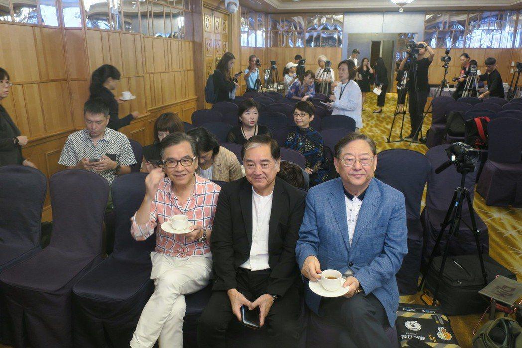 姜大衛(左起)、秦沛、吳思遠也替地來台共襄盛舉。記者蘇詠智/攝影