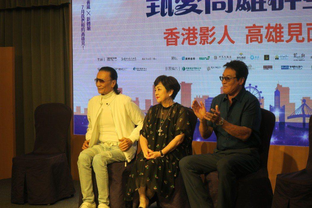 「一簾幽夢」經典組合謝賢(左起)、甄珍、秦祥林再聚首。記者蘇詠智/攝影