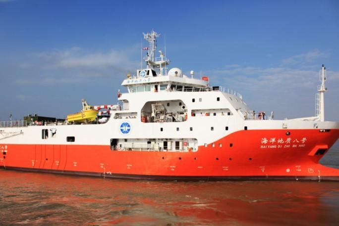 南沙群島海域勘探石油 中越海警船近20艘對峙