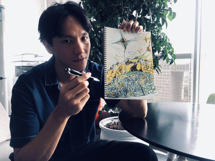 曹晏豪以親身體驗過的風景堆疊出這顆星球之美。圖/萬寶龍提供