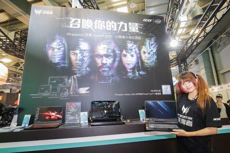 Acer Day活動現場設有電競筆電體驗區。圖/宏碁提供