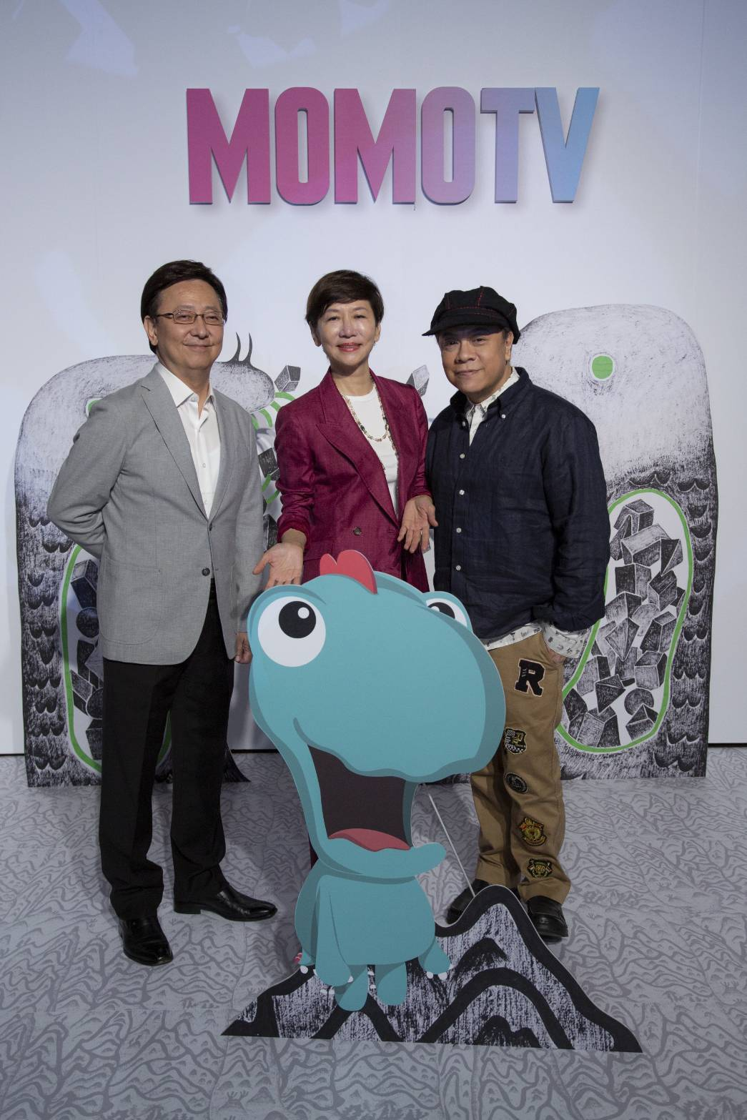 蔡康永、陳藹玲與李四端現身記者會。圖/MOMOTV提供