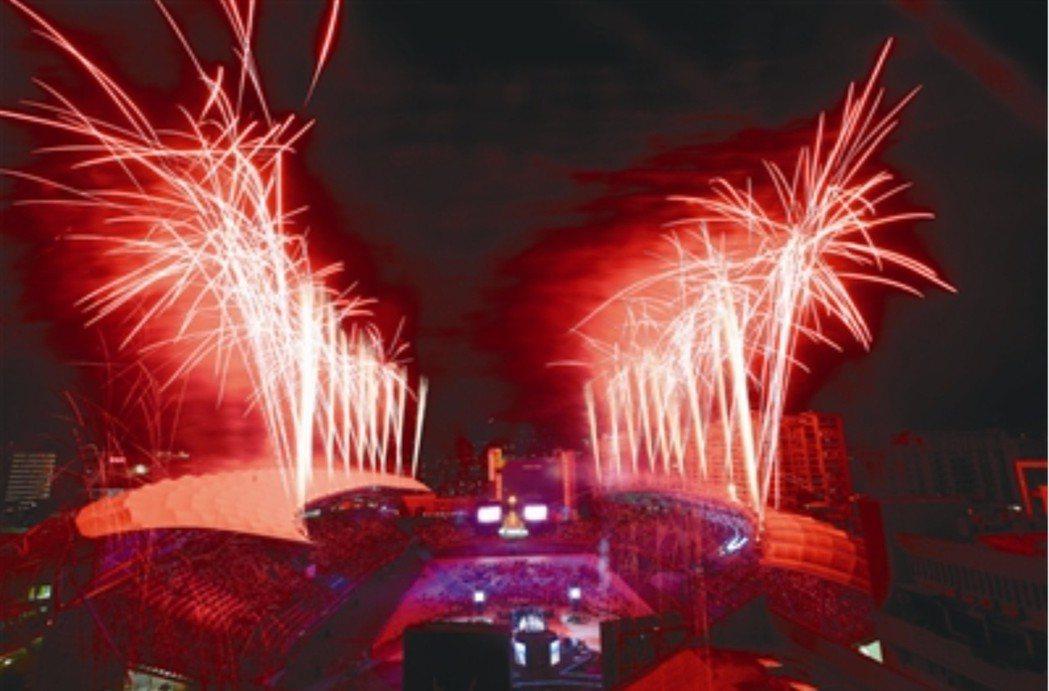 世大運閉幕式。本報資料照片