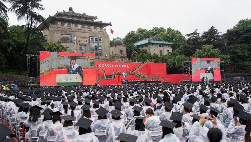 湖北武漢大學新錄取的一名台灣交換生遭大陸網民指發表「精日、台獨」言論。圖為今年6...