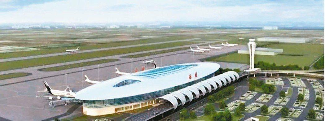 南通新機場將有效承接上海航空約4,900萬人次的溢出量。圖為效果圖。 網路照片