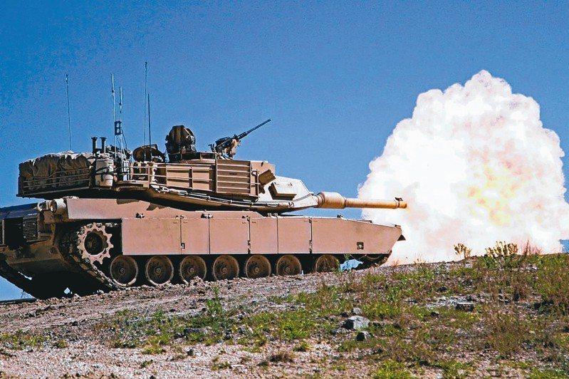 美對台軍售其中有M1A2戰車。 圖/美國陸軍檔案照