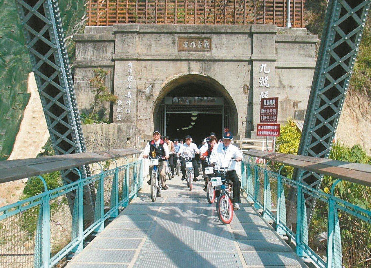 圖為中縣后豐鐵馬道上的台鐵舊山線九號隧道。圖/聯合報系資料照片
