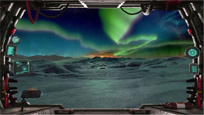 屏東海生館新設虛擬海世界VR體驗館,藉由科技帶領遊客潛入海洋,感受海底世界奇幻世界,同時搭乘極地探險車前進極地賞極光。圖/海生館提供
