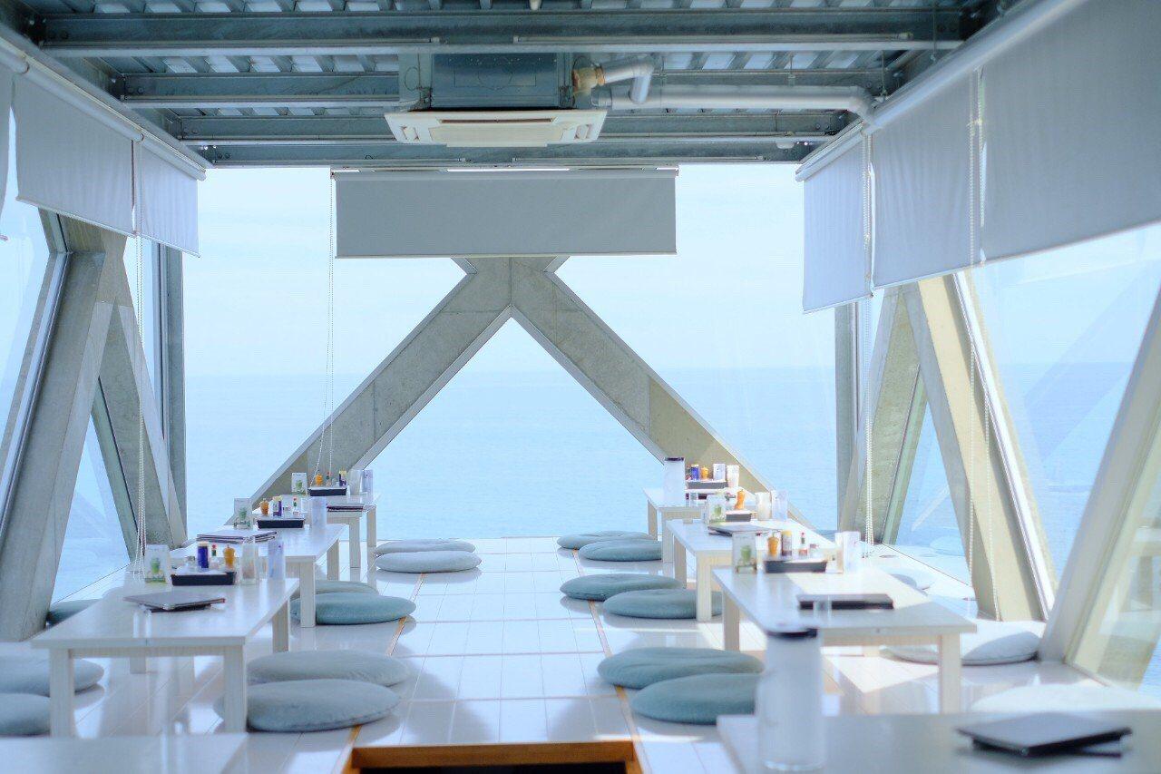 可以欣賞到海景的Sea House太平洋絕景咖啡廳。圖/高知縣政府提供