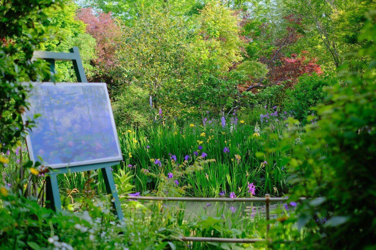 莫內花園完整重現莫內畫作的場景。圖/高知縣政府提供