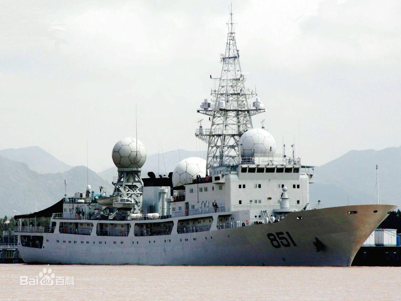 中共海軍815G型電子偵察艦。(百度圖庫)