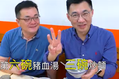江啟臣3小時連吃12碗炒麵豬血湯 網友:怎麼不會胖