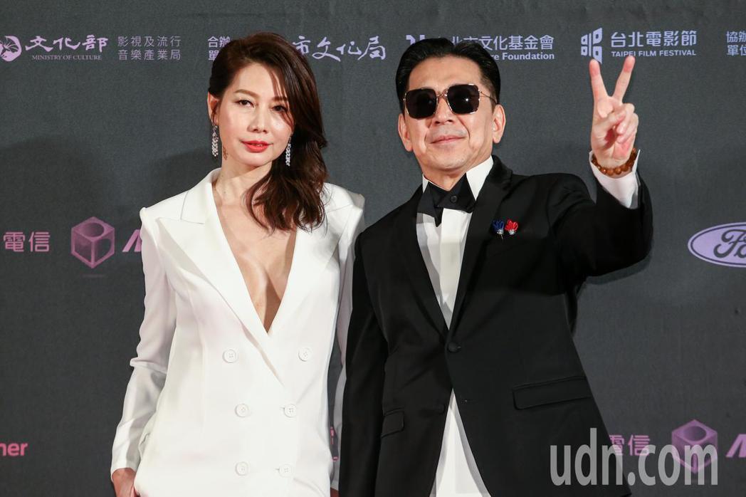 台北電影獎劇情長片幸福城市的男配角高捷(右)與女配角丁寧(左)。記者曾原信/攝影