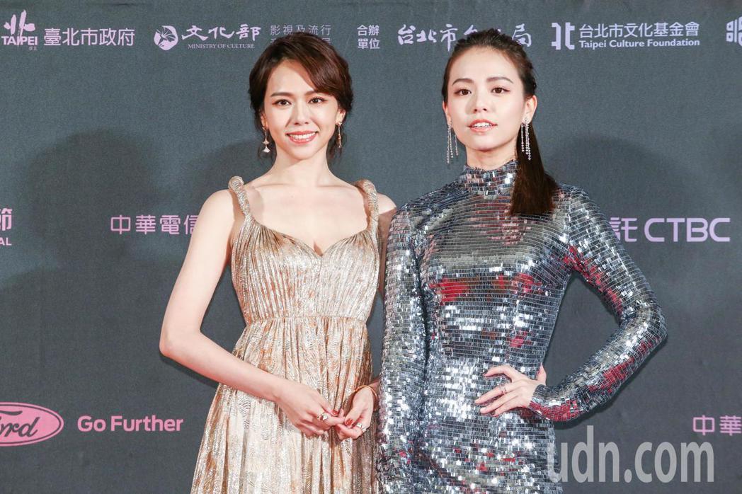 台北電影獎頒獎人夏于喬(左)與宋芸樺。記者曾原信/攝影