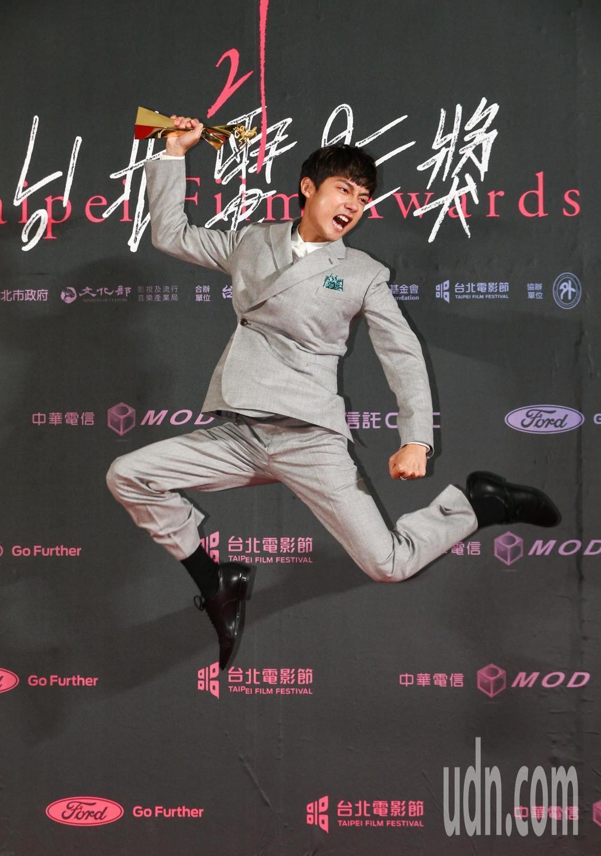 台北電影獎,最佳男配角由新人林鶴軒獲得。記者曾原信/攝影