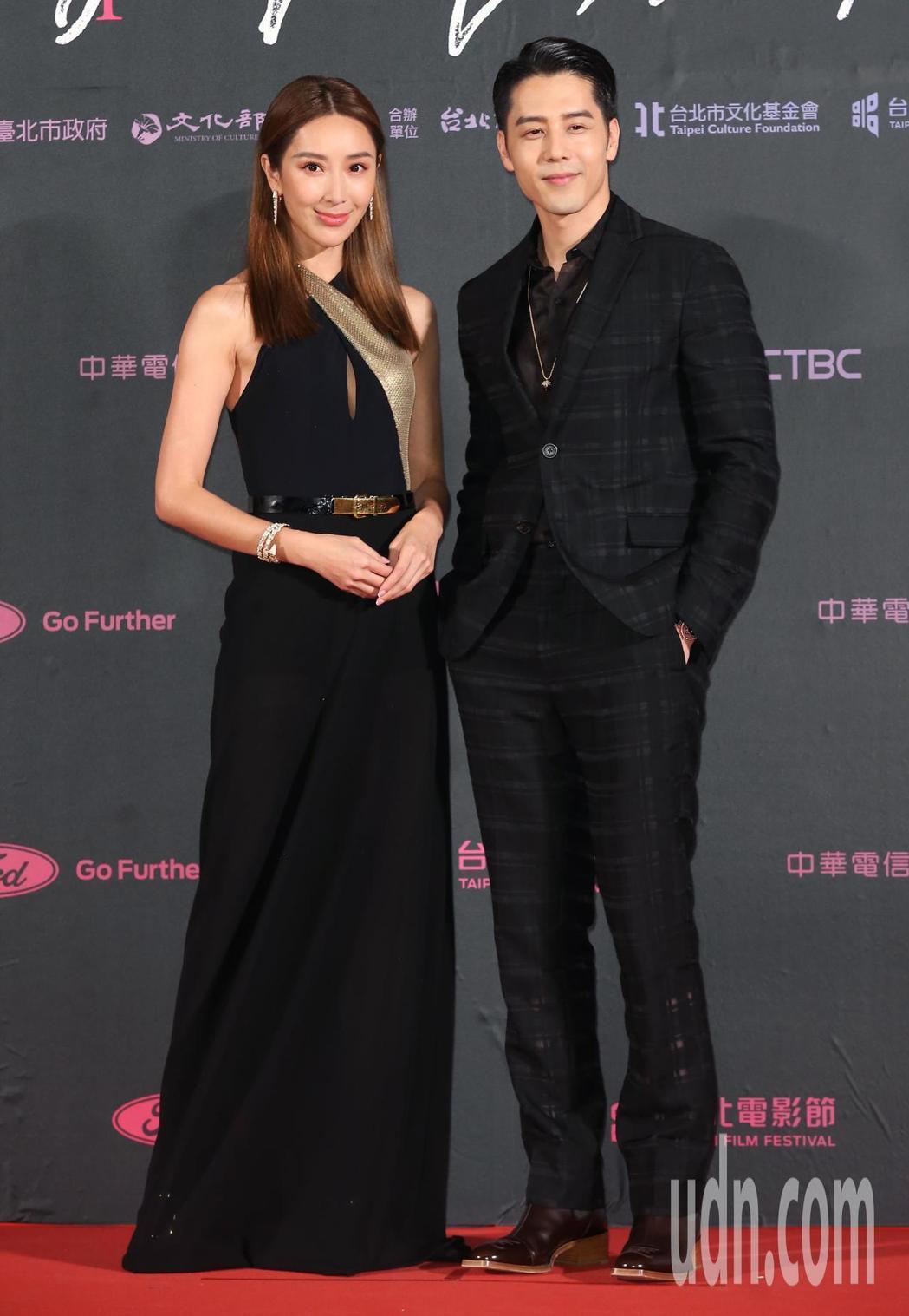 隋棠、胡宇威出席第21屆台北電影獎,擔任頒獎人。記者徐兆玄/攝影