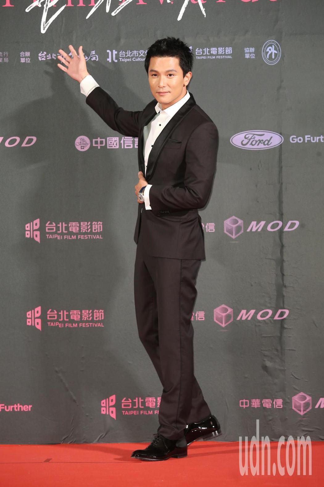 邱澤出席第21屆台北電影獎,擔任頒獎人。記者徐兆玄/攝影