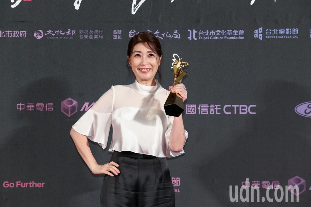 台北電影獎最佳女配角,由劇情長片老大人女配角黃嘉千獲得。記者曾原信/攝影