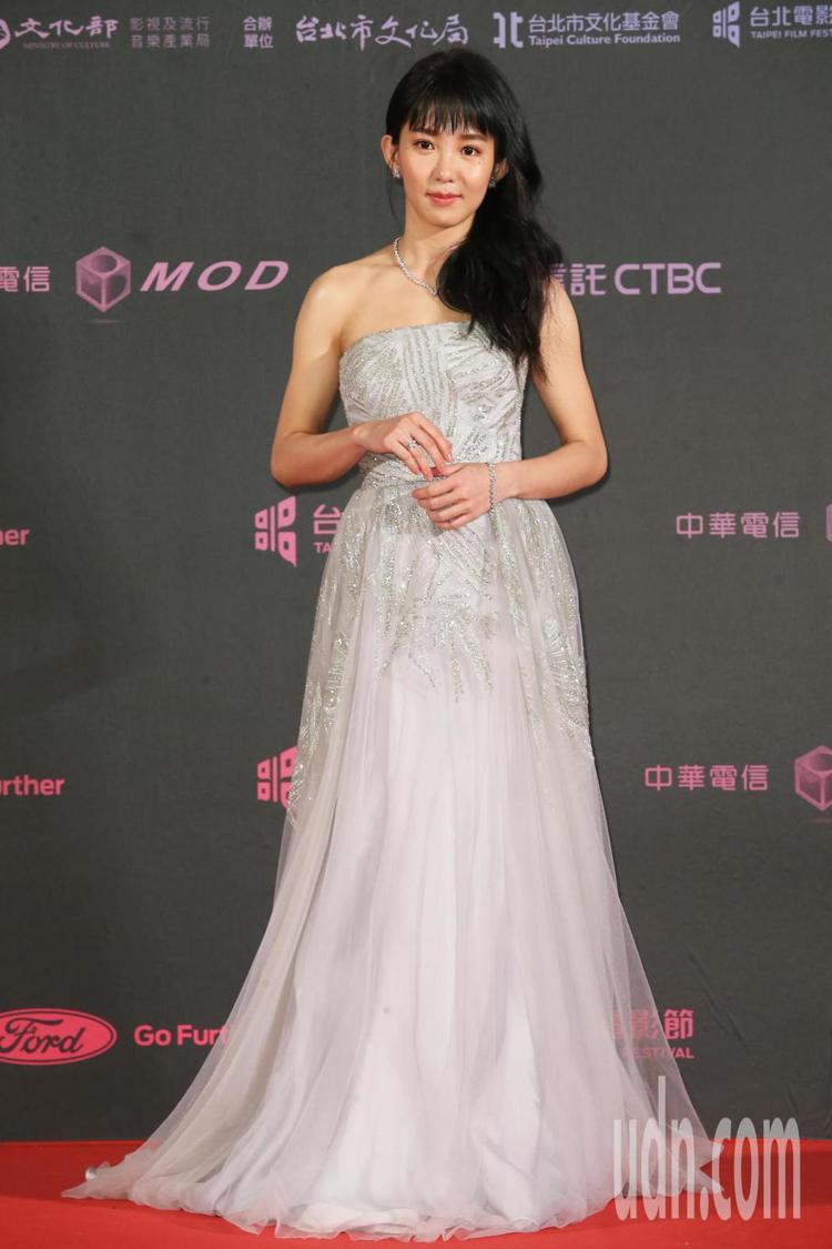 入圍2019台北電影節獎最佳女主角的郭書瑤配戴海瑞溫斯頓珠寶。記者徐兆玄/攝影