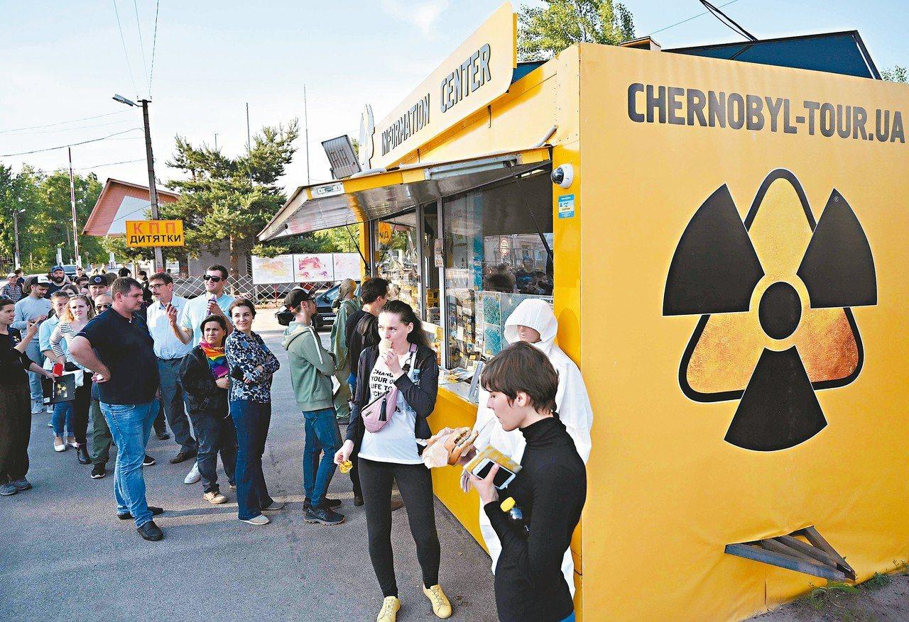 車諾比核災遺址湧現觀光人潮。 法新社