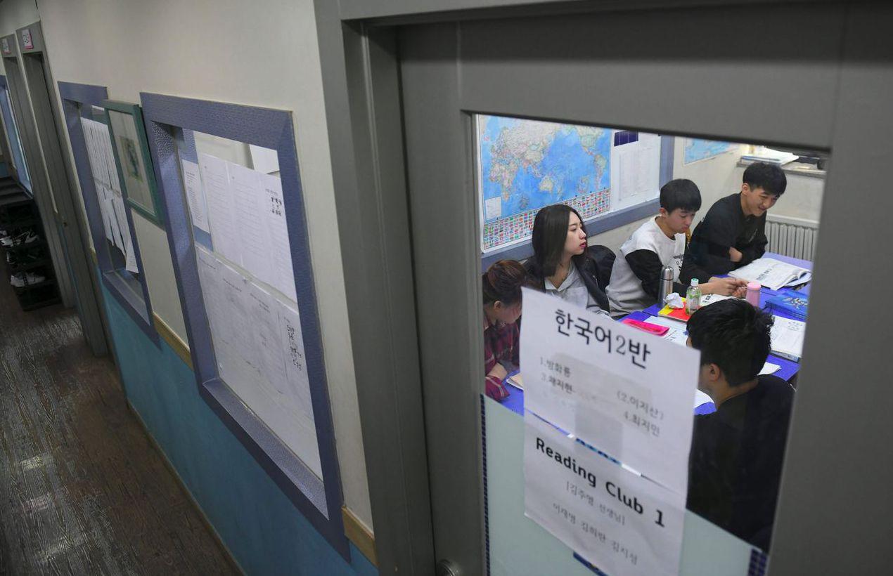 目前有60名學生在沃利多學校就讀,他們有些因逃離北韓或貧窮而被迫放棄學業。 (法...