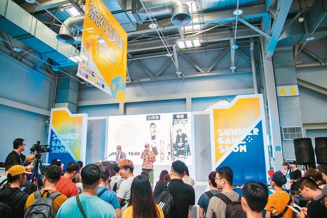 夏日電玩展周末人潮湧現。 記者謝艾莉/攝影