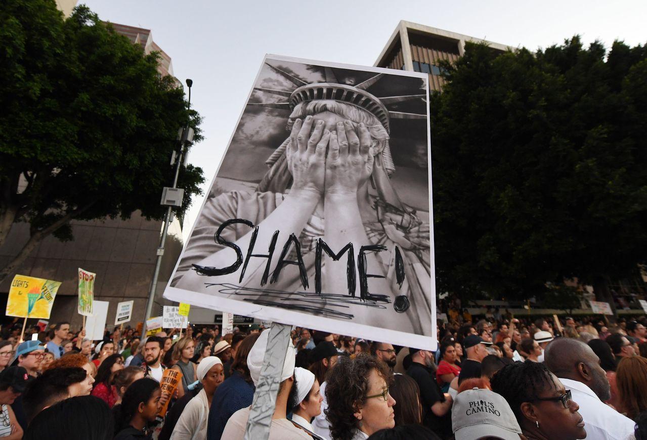 逮捕移民行動在紐約市展開。 法新社